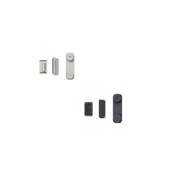 iPhone 5 Button Kit Power  Mute  Volume Black & White