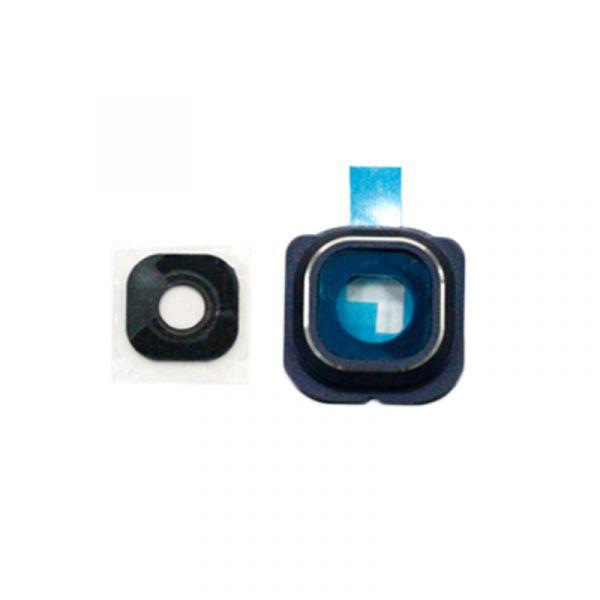 Samsung S6 G925 Edge Camera Frame Blue