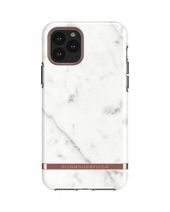 Richmond & Finch White Marble - Rose gold details, iPhone 11 Pro