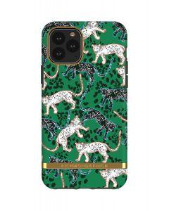 Richmond & Finch Green Leopard - Gold details,iPhone 11 Pro
