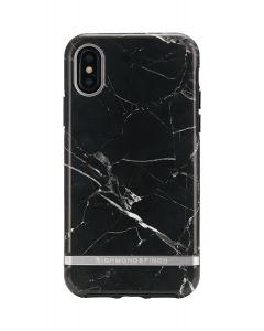 Richmond & Finch BLACK MARBLE - IPHONE X / XS SILVER DETAILS