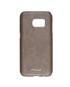 Fitted Leather Case For Samsung S7 Brown