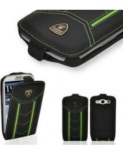Lamborghini Flip Case Samsung Galaxy S3 Black/Yellow Circles