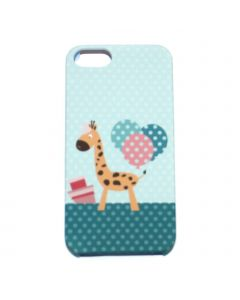 Luxo Case Animal For iPhone 5G/S (Giraffe) yellow