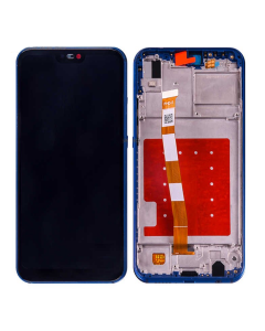 Huawei P20 Lite LCD Display original Blue with Frame