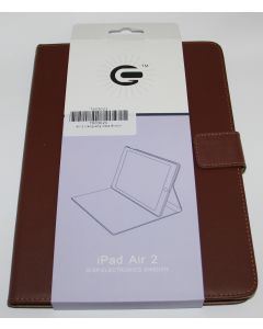 Flip Stand Leather Case For iPad Air 2  Brown