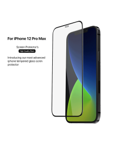 Apple iPhone 12 Pro Max 3D Tempered Glass Black