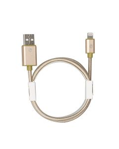 G-SP MFI Lightning Cable 1 m Gold Braided Metallic Colors