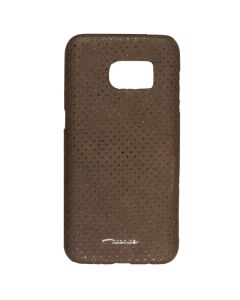Fitted Leather Case For Samsung S7 Coffee