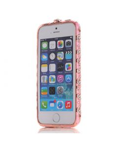 iPhone 5G National Custom Frame Rose Red W.Gold By HXX