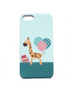 Luxo Case Animal For iPhone 5G/S (Giraffe) yellow