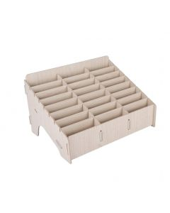 Wooden 24 Storage Compartments Multifunctional Storage Box M